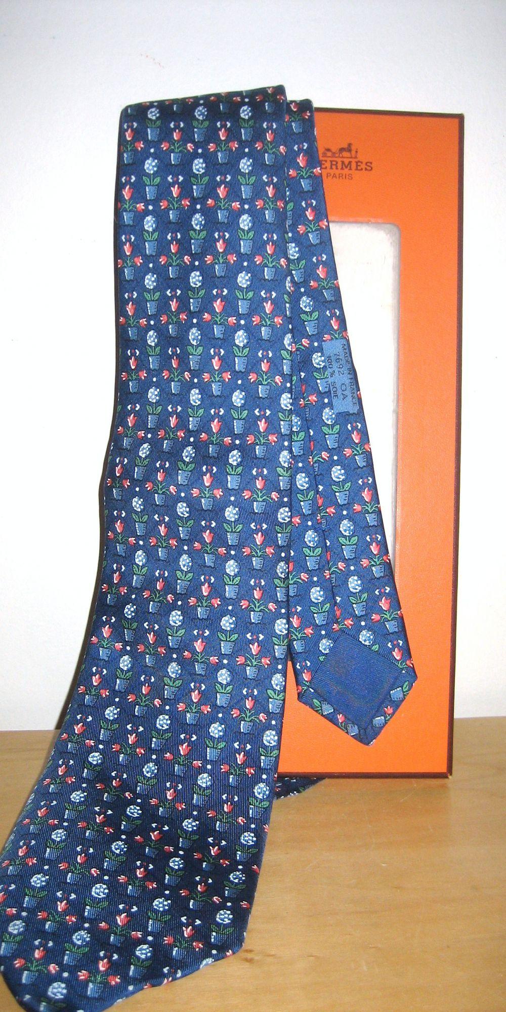 Cravate Hermès bleue 1