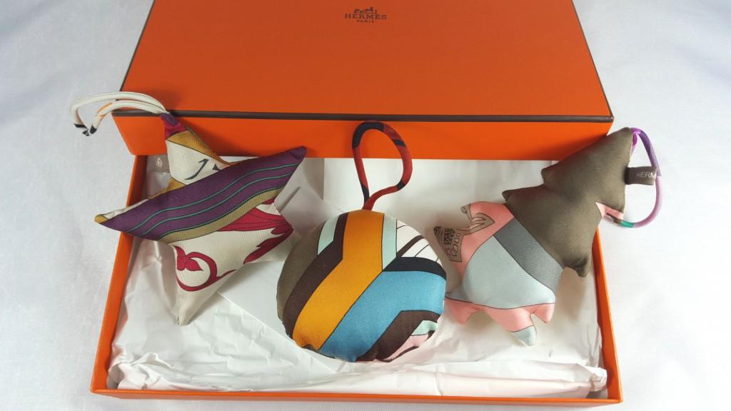 Set de 3 boules de Noël Hermès