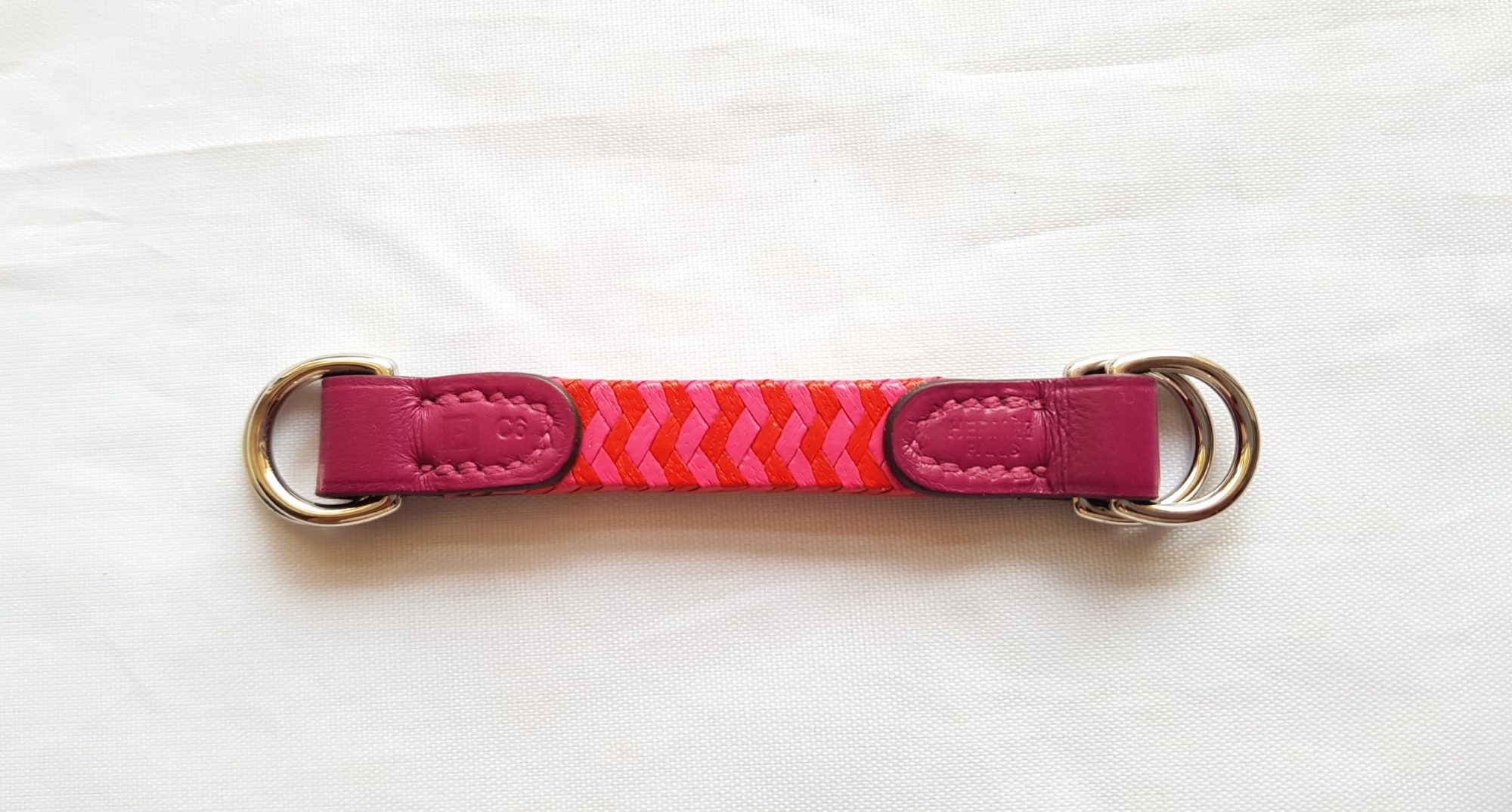 Porte-clés Hermès anneau charm trait d'union little romance