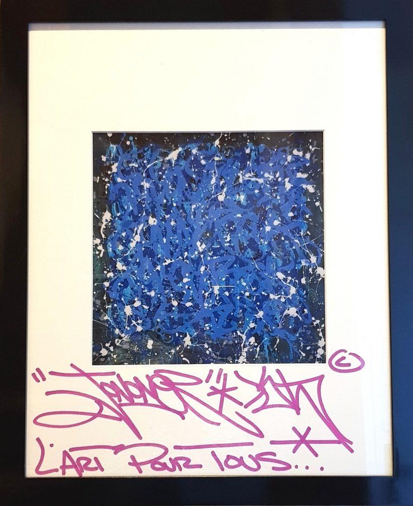 JonOne lithographie sans titre signée