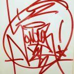 JonOne tag au marqueur rouge